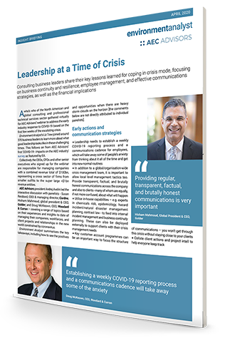Leadership at a Time of Crisis - report cover