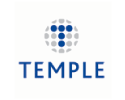 Temple logo on standard background