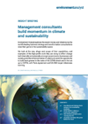 Management consultants build momentum in climate and sustainability