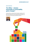 The SDGs - mission impossible