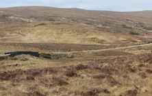 View looking North West on to the Site with A836 in Middle Distance © Creag Riabhach Wind Farm Ltd