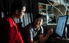 Researchers squeeze waste heat into light. JEFF FITLOW/RICE UNIVERSITY