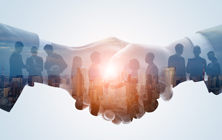 Diversity, inclusion - shaking hands